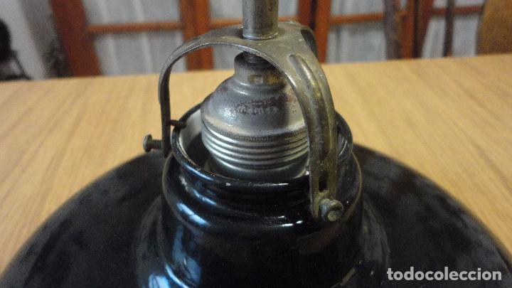 Vintage: ANTIGUA LAMPARA TULIPA METAL ESMALTADO.RETRO VINTAGE INDUSTRIAL.AÑOS 30,40 - Foto 9 - 99251503