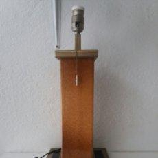 Vintage: ANTIGUA LAMPARA DE MESA ESTILO LUMICA DE PORCELANA Y METAL DORADO DISEÑO ESPAÑOL. Lote 99396556