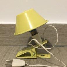 Vintage: LAMPARA O FOCO DE PINZA. Lote 100539104