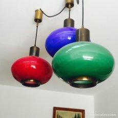 Vintage: BONITA LAMPARA VINTAGE 3 COLORES. Lote 100797791