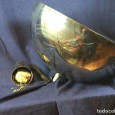 Vintage: LAMPARA TECHO LATON PLATEADO SEMIESFERA ERA ESPACIAL FRATELLI GIANNELLI FIRENZE ITALIA SUBE BAJA. Lote 100919255