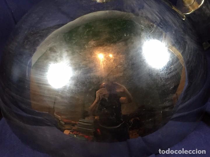 Vintage: lampara techo laton plateado semiesfera era espacial fratelli giannelli firenze italia sube baja - Foto 3 - 100919255