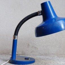 Vintage: LAMPARA DE LOS AÑOS 60 DE MESA FLEXO VINTAGE ANTIGUA 1960 AZUL. Lote 101472827