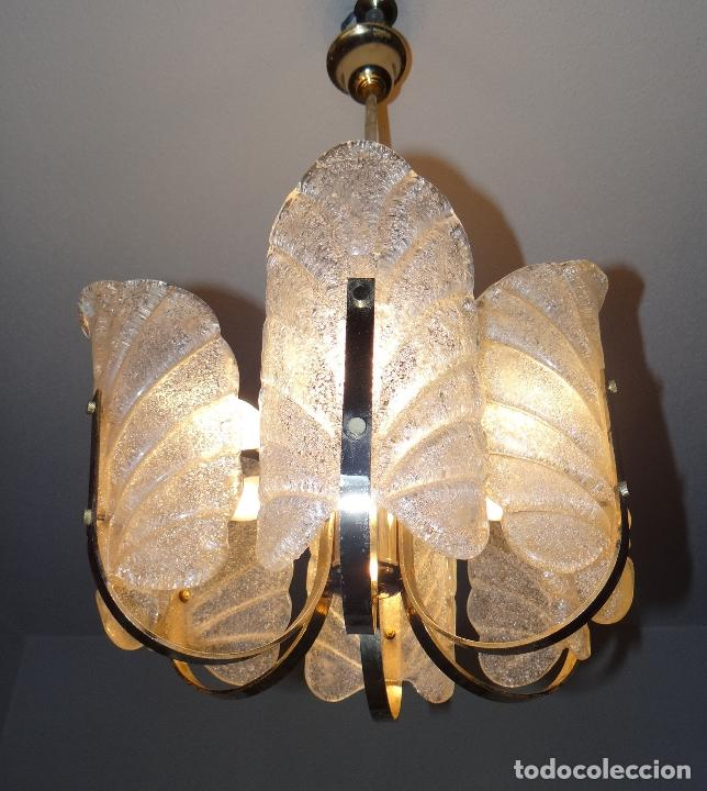 Vintage: LAMPARA VINTAGE. SEIS LUCES. CARL FAGERLUND. ORREFORS. CHANDELIER GLASS MURANO BAROVIER - Foto 2 - 101637491