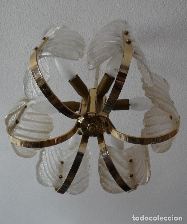 Vintage: LAMPARA VINTAGE. SEIS LUCES. CARL FAGERLUND. ORREFORS. CHANDELIER GLASS MURANO BAROVIER - Foto 6 - 101637491
