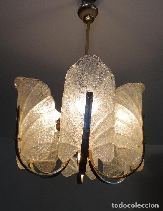 Vintage: LAMPARA VINTAGE. SEIS LUCES. CARL FAGERLUND. ORREFORS. CHANDELIER GLASS MURANO BAROVIER - Foto 10 - 101637491