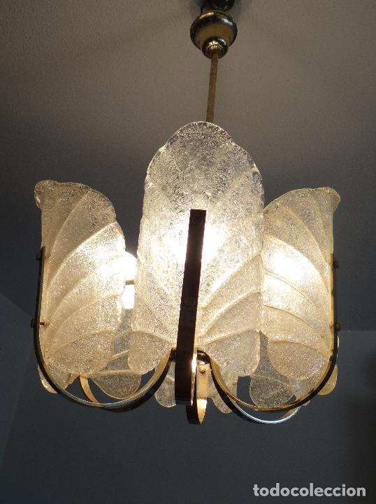 Vintage: LAMPARA VINTAGE. SEIS LUCES. CARL FAGERLUND. ORREFORS. CHANDELIER GLASS MURANO BAROVIER - Foto 11 - 101637491