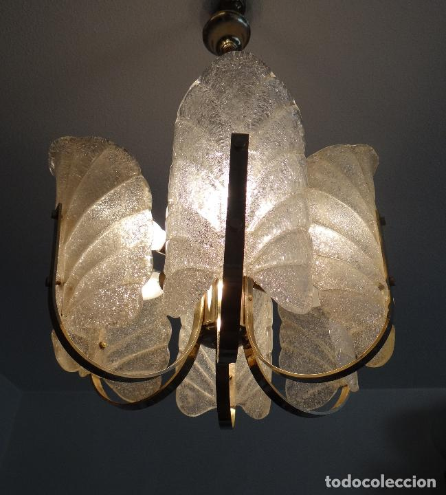 Vintage: LAMPARA VINTAGE. SEIS LUCES. CARL FAGERLUND. ORREFORS. CHANDELIER GLASS MURANO BAROVIER - Foto 12 - 101637491