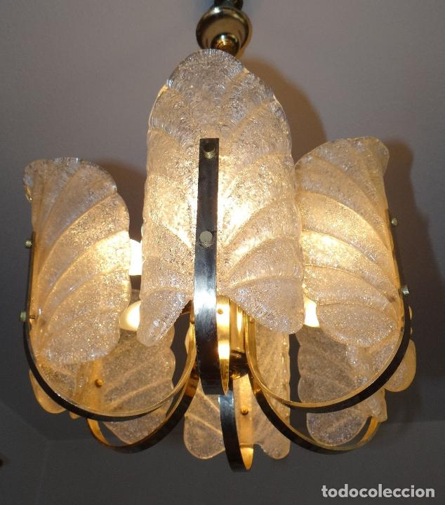 Vintage: LAMPARA VINTAGE. SEIS LUCES. CARL FAGERLUND. ORREFORS. CHANDELIER GLASS MURANO BAROVIER - Foto 13 - 101637491