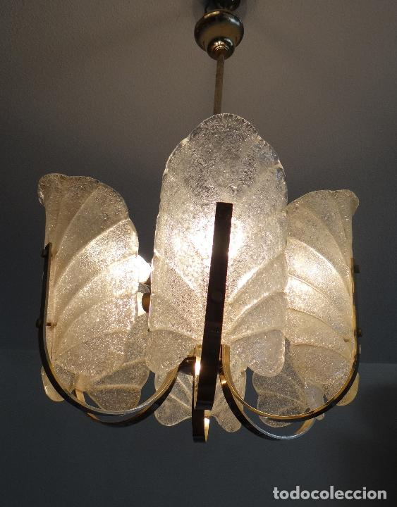 Vintage: LAMPARA VINTAGE. SEIS LUCES. CARL FAGERLUND. ORREFORS. CHANDELIER GLASS MURANO BAROVIER - Foto 14 - 101637491