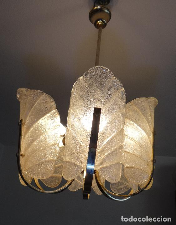Vintage: LAMPARA VINTAGE. SEIS LUCES. CARL FAGERLUND. ORREFORS. CHANDELIER GLASS MURANO BAROVIER - Foto 17 - 101637491