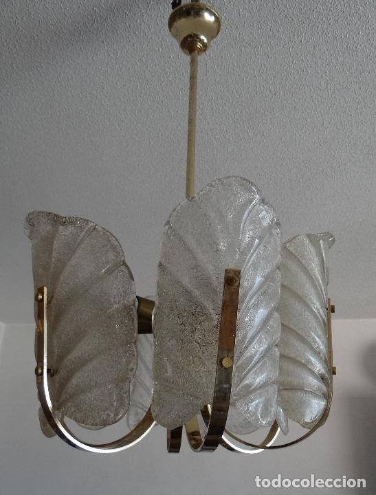 Vintage: LAMPARA VINTAGE. SEIS LUCES. CARL FAGERLUND. ORREFORS. CHANDELIER GLASS MURANO BAROVIER - Foto 18 - 101637491