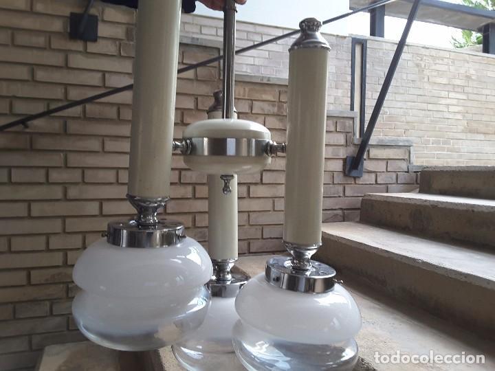 LÁMPARA TECHO VINTAGE (Vintage - Lámparas, Apliques, Candelabros y Faroles)