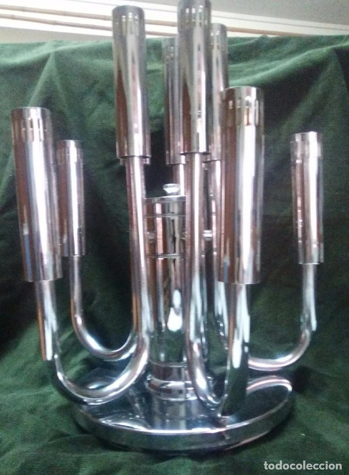 Vintage: Plafon lámpara acero 10 brazos space age. Hecho en España. - Foto 2 - 102614335