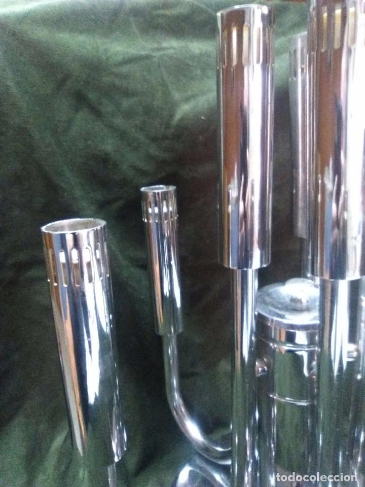 Vintage: Plafon lámpara acero 10 brazos space age. Hecho en España. - Foto 3 - 102614335
