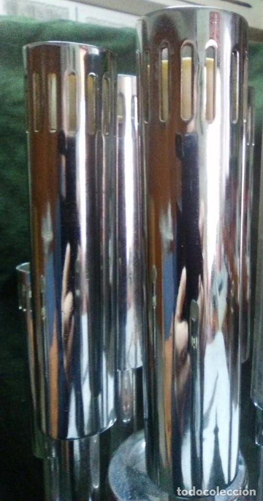 Vintage: Plafon lámpara acero 10 brazos space age. Hecho en España. - Foto 4 - 102614335