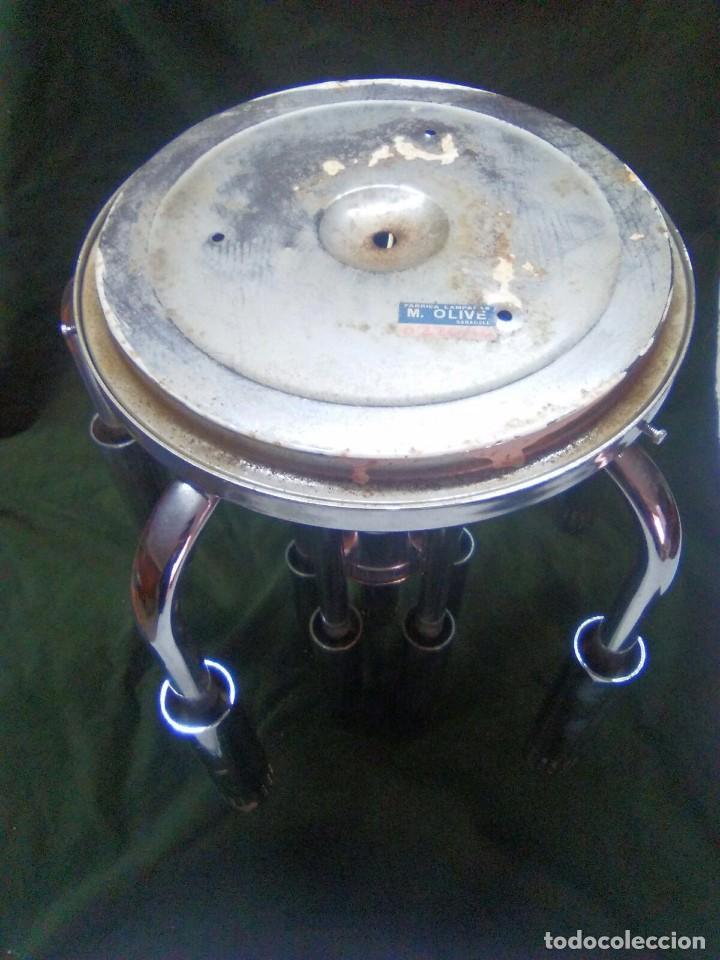 Vintage: Plafon lámpara acero 10 brazos space age. Hecho en España. - Foto 5 - 102614335
