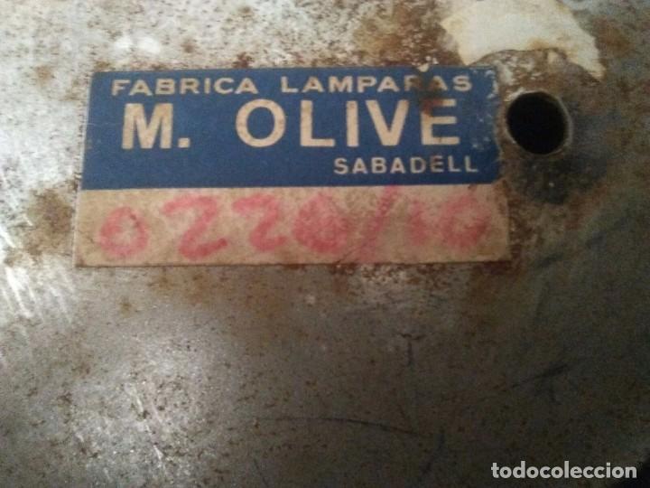 Vintage: Plafon lámpara acero 10 brazos space age. Hecho en España. - Foto 6 - 102614335