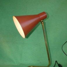 Vintage: BELLA LAMPARA SOBREMESA TIPO JEAN BORIS LACROIX GINO SARFATTI AÑOS 50 SPACE AGE MID CENTURY DISEÑO. Lote 102851719