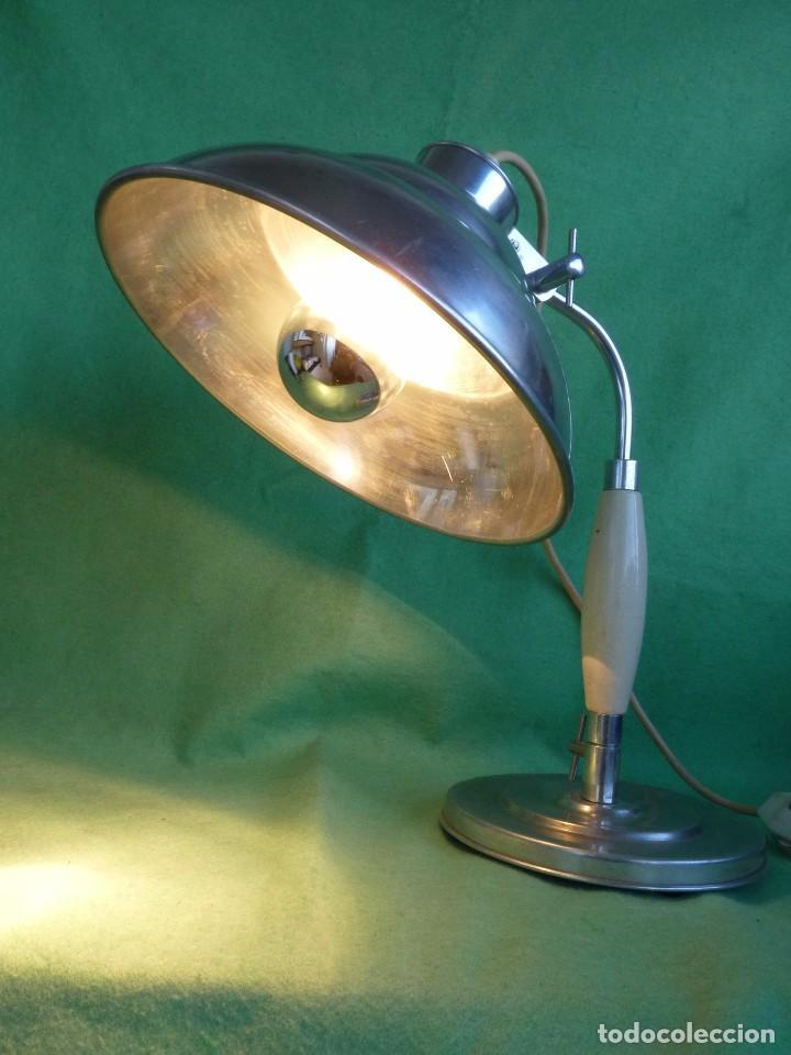 Vintage: PRECIOSA LAMPARA SOBREMESA Kurt Rosenthal DISEÑO INDUSTRIAL ALEMANIA AÑOS 50 MID CENTURY VINTAGE - Foto 8 - 102867223