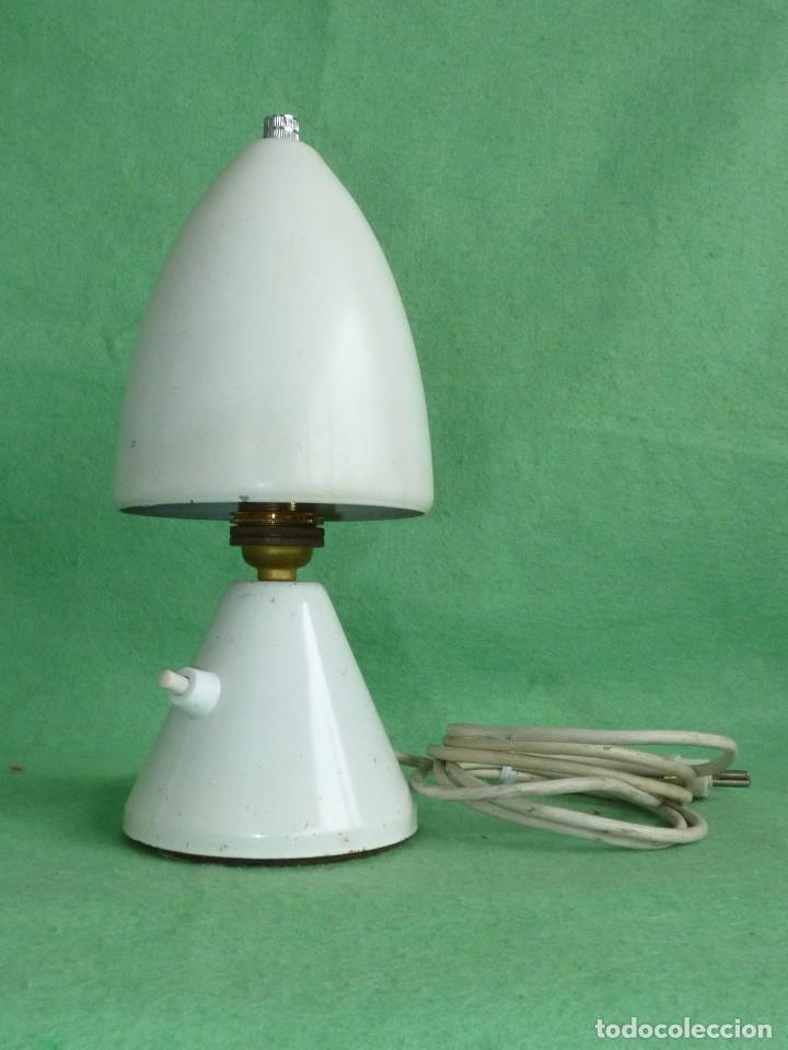 GENIAL LAMPARA SETA COHETE SOBREMESA ROCKET FRANCIA AÑOS 50 SPACE AGE MID CENTURY DISEÑO VINTAGE (Vintage - Lámparas, Apliques, Candelabros y Faroles)