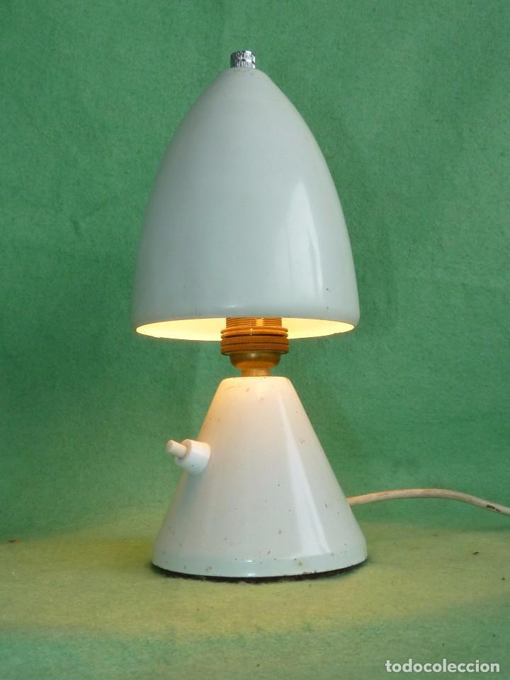 Vintage: GENIAL LAMPARA SETA COHETE SOBREMESA ROCKET FRANCIA AÑOS 50 SPACE AGE MID CENTURY DISEÑO VINTAGE - Foto 2 - 103033583