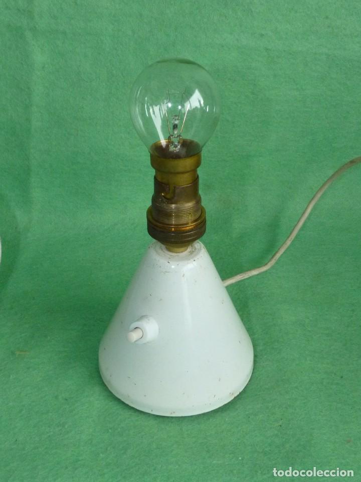 Vintage: GENIAL LAMPARA SETA COHETE SOBREMESA ROCKET FRANCIA AÑOS 50 SPACE AGE MID CENTURY DISEÑO VINTAGE - Foto 5 - 103033583