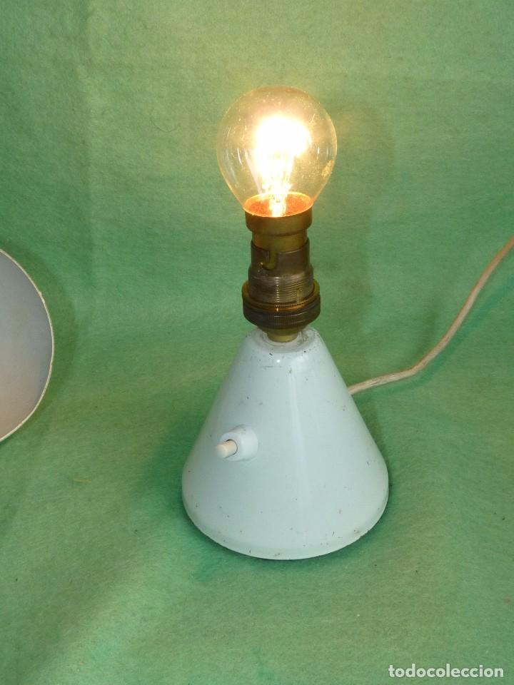 Vintage: GENIAL LAMPARA SETA COHETE SOBREMESA ROCKET FRANCIA AÑOS 50 SPACE AGE MID CENTURY DISEÑO VINTAGE - Foto 6 - 103033583
