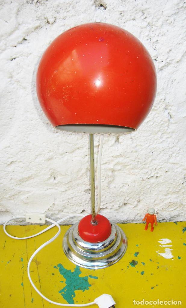 Vintage: LAMPARA VINTAGE SPACE AGE 60CM ARTICULABLE TIPO EYEBALL POP - Foto 4 - 103057763