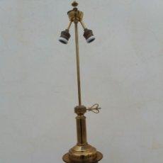 Vintage: ANTIGUA LAMPARA DE MESA A BASE CRISTAL TIPO JICARA Y BRONCE..VINTAGE AÑOS 70. Lote 101383786