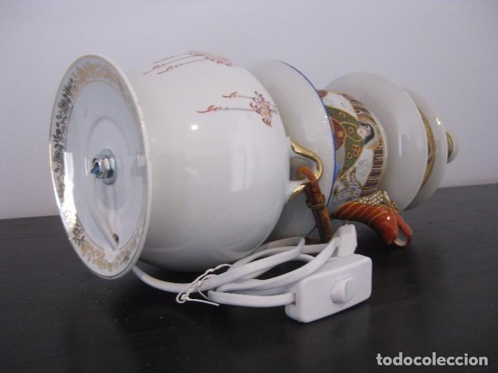 Vintage: Preciosa lampara de sobremesa de antiguas piezas de porcelana china y japonesa - Foto 4 - 103421335