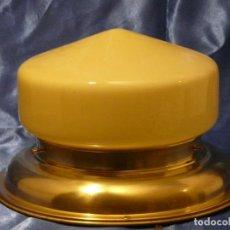 Vintage: LAMPARA PLAFON CON TULIPA ART DECO AMBAR. Lote 232283065