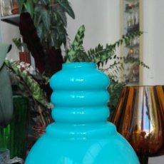 Vintage: TULIPA CRISTAL AZUL. Lote 103584480