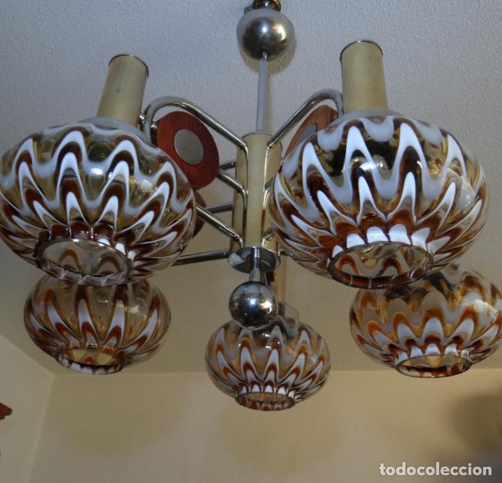 LAMPARA VINTAGE. MURANO MAZZEGA. ITALIA. AÑOS 1960-70. FUNCIONAMIENTO. (Vintage - Lámparas, Apliques, Candelabros y Faroles)