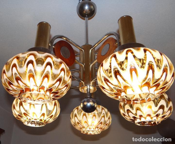 Vintage: LAMPARA VINTAGE. MURANO MAZZEGA. ITALIA. AÑOS 1960-70. FUNCIONAMIENTO. - Foto 2 - 103776703