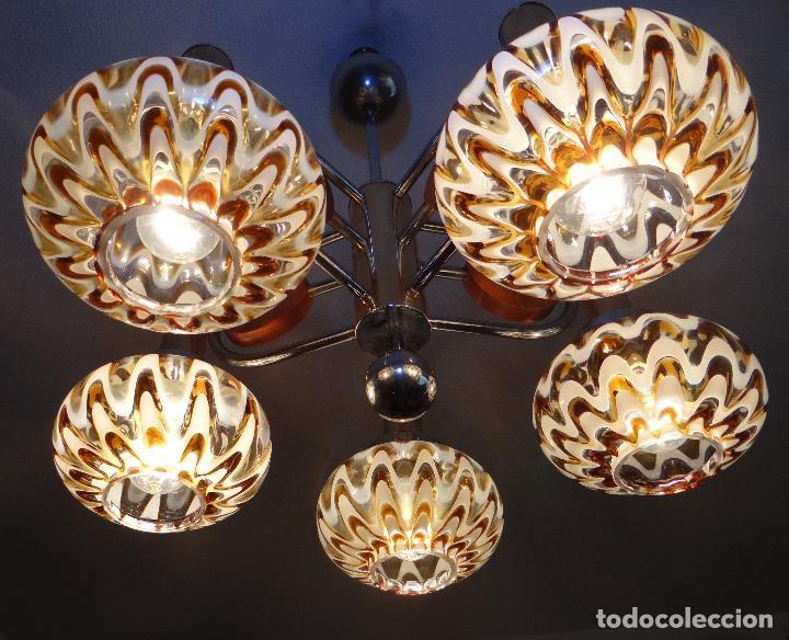 Vintage: LAMPARA VINTAGE. MURANO MAZZEGA. ITALIA. AÑOS 1960-70. FUNCIONAMIENTO. - Foto 4 - 103776703