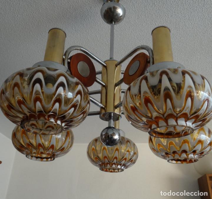 Vintage: LAMPARA VINTAGE. MURANO MAZZEGA. ITALIA. AÑOS 1960-70. FUNCIONAMIENTO. - Foto 7 - 103776703