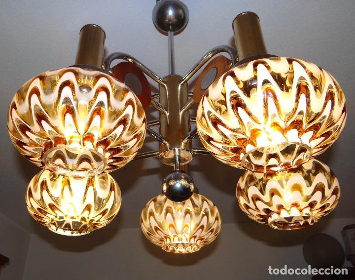 Vintage: LAMPARA VINTAGE. MURANO MAZZEGA. ITALIA. AÑOS 1960-70. FUNCIONAMIENTO. - Foto 8 - 103776703
