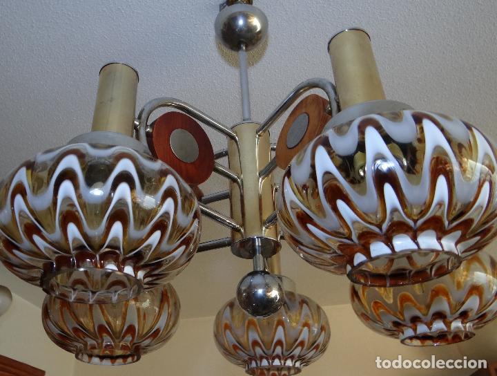 Vintage: LAMPARA VINTAGE. MURANO MAZZEGA. ITALIA. AÑOS 1960-70. FUNCIONAMIENTO. - Foto 9 - 103776703