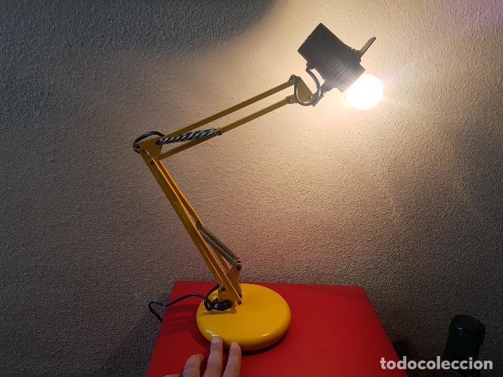 LAMPARA FLEXO MARCA FASE ARTICULADO DE ESCRITORIO VINTAGE AÑOS 70 METALICO DISEÑO (Vintage - Lámparas, Apliques, Candelabros y Faroles)