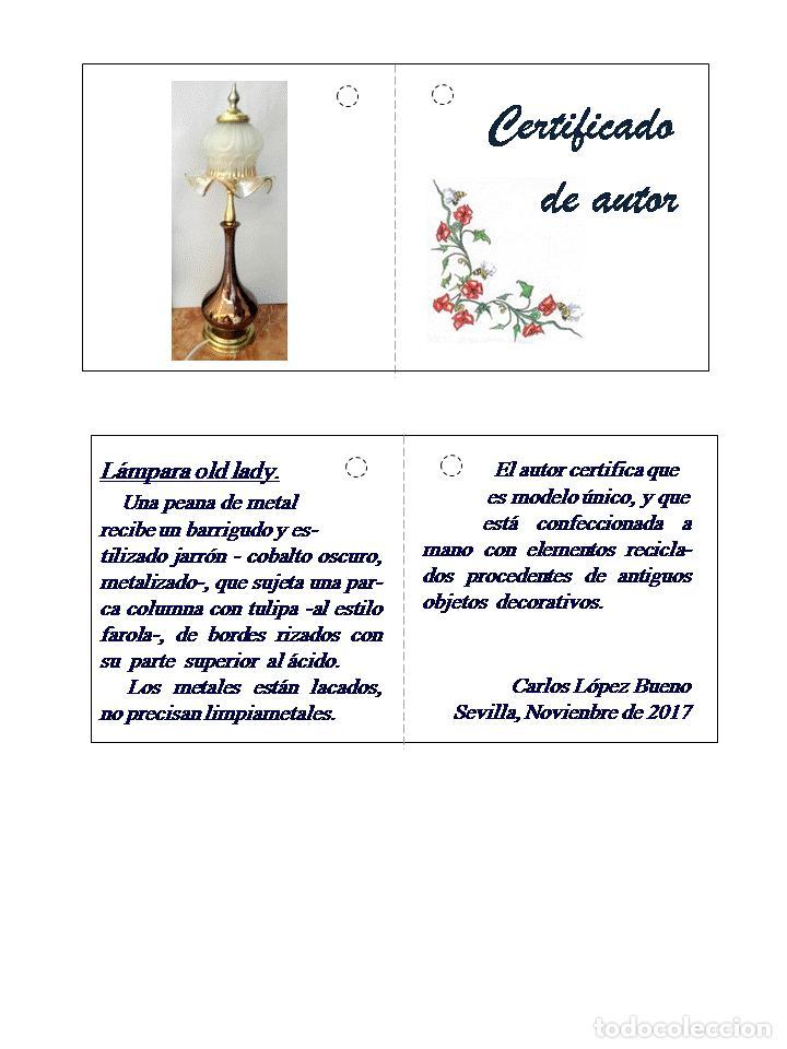 Vintage: REGALO ESPECIAL. Lámpara de autor OLD LADY - Foto 5 - 103981803