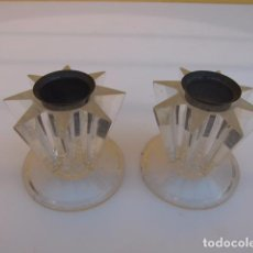 Vintage: PAREJA DE CANDELABROS DE METACRILATO. MADE IN FRANCE. Lote 104073367