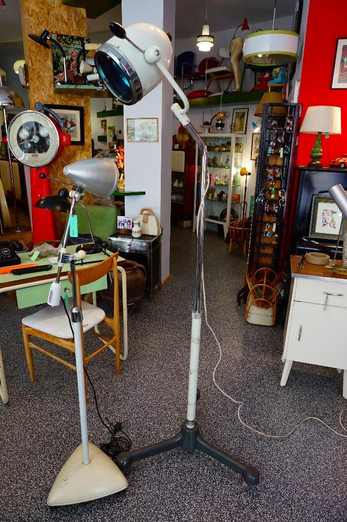 Vintage: lámpara grande de pie consulta medica clinica de los años 50 vintage antigua hanau quirofano - Foto 3 - 104127195