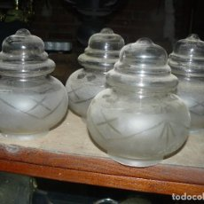 Vintage: GLOBOS LAMPARA ANTIGUA LOTE DE 4 GLOBOS. Lote 147821681