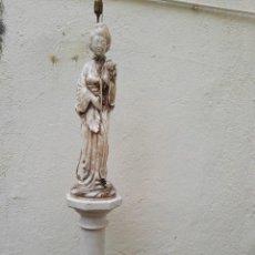 Vintage: ESCULTURA DE ALABASTRO, LÁMPARA DE SEÑORA TIPO GUEISHA JAPONESA. DE. Lote 104330211