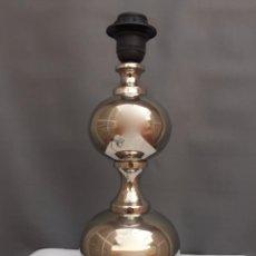 Vintage: LAMPARA DE MESA ANTIGUA ESFERAS METAL PLATEADO O ALPACA AÑOS 50 60. Lote 104897839