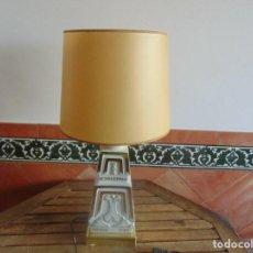 Vintage: LAMPARA DE SOBREMESA EN CERAMICA PUBLICIDAD SCHWEPPES DESDE 1783 TONICA . Lote 104940611