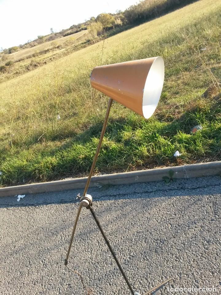 Vintage: Lámpara vintage años 50 de pie LUNEL para sillón orejero o sofá . MUY GRANDE 180cm - Foto 11 - 105026295