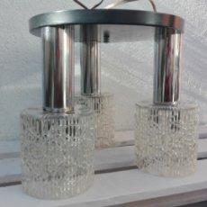 Vintage: LAMPARA PLAFÓN TECHO 3 LUCES METAL VINTAGE. Lote 105128163