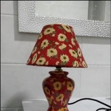 Vintage: LAMPARA DE MESA DISEÑO FLORAL. Lote 105700507